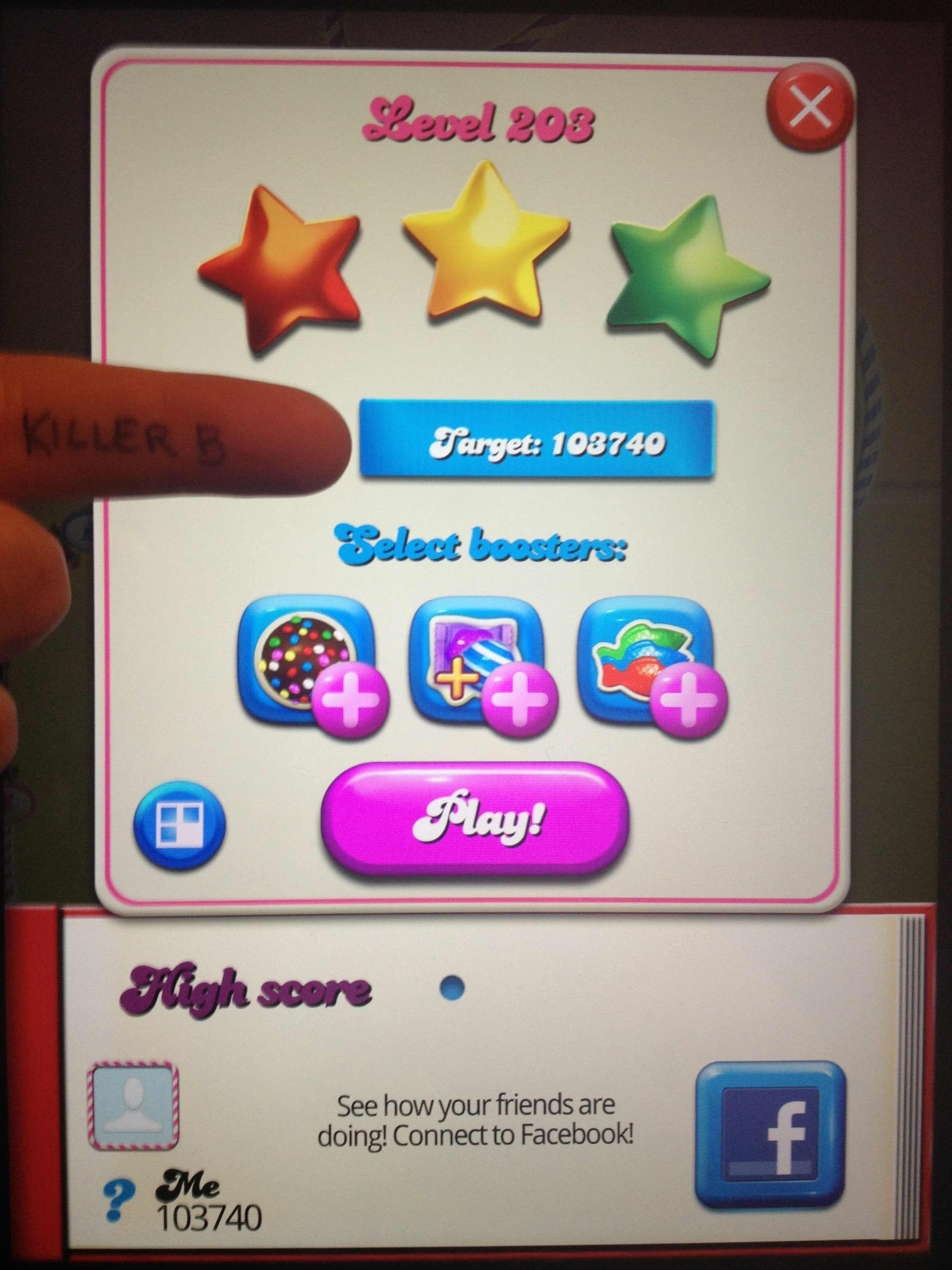 Candy Crush Saga: Level 203 103,740 points