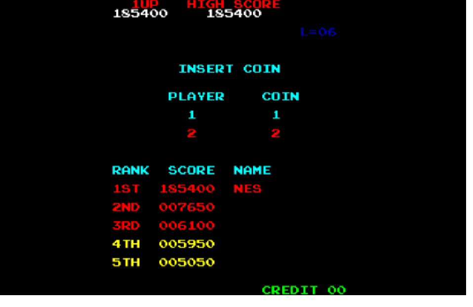 Donkey Kong 185,400 points