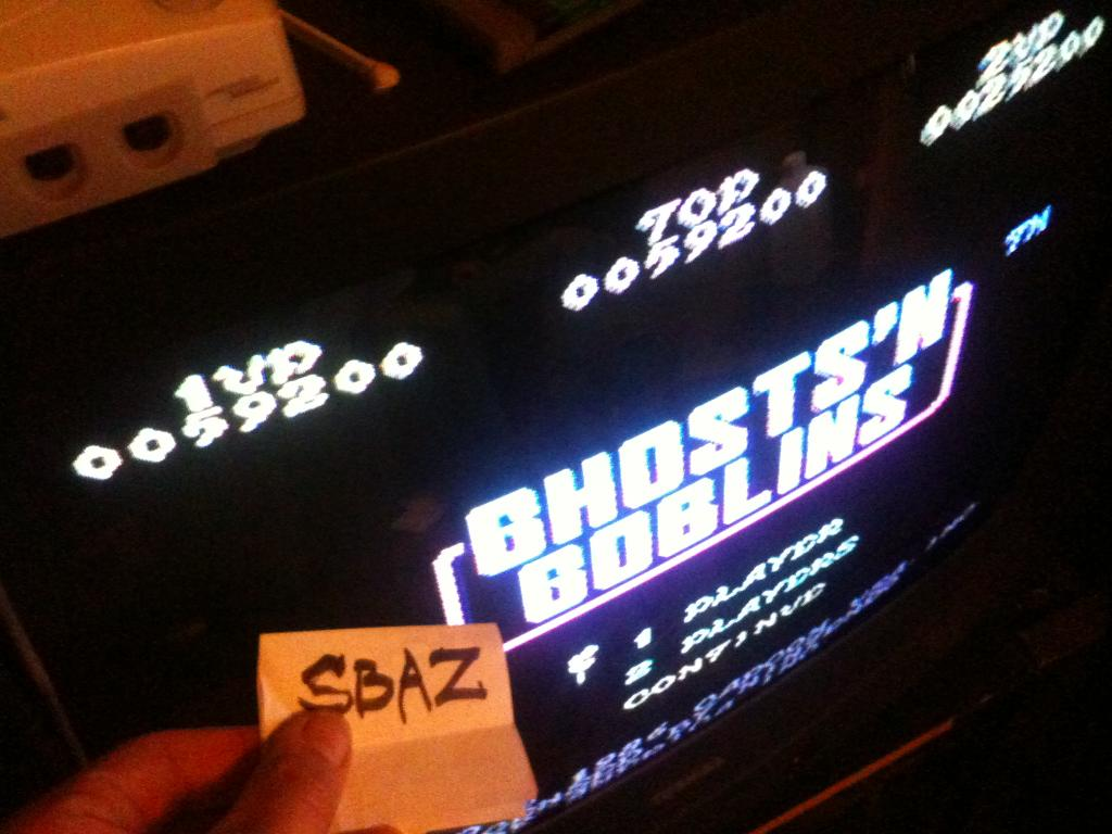 Ghosts N Goblins 59,200 points