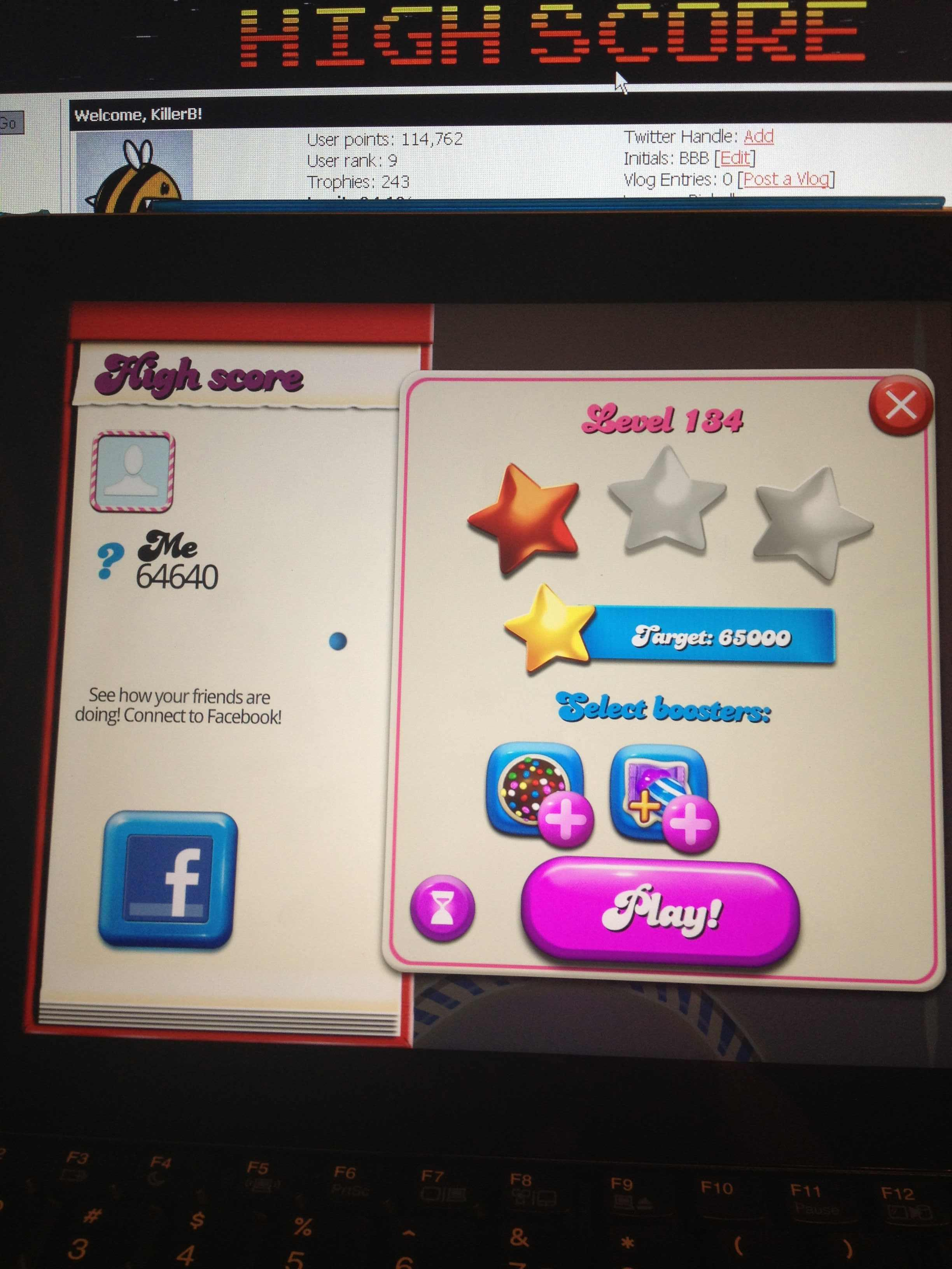 Candy Crush Saga: Level 134 64,640 points