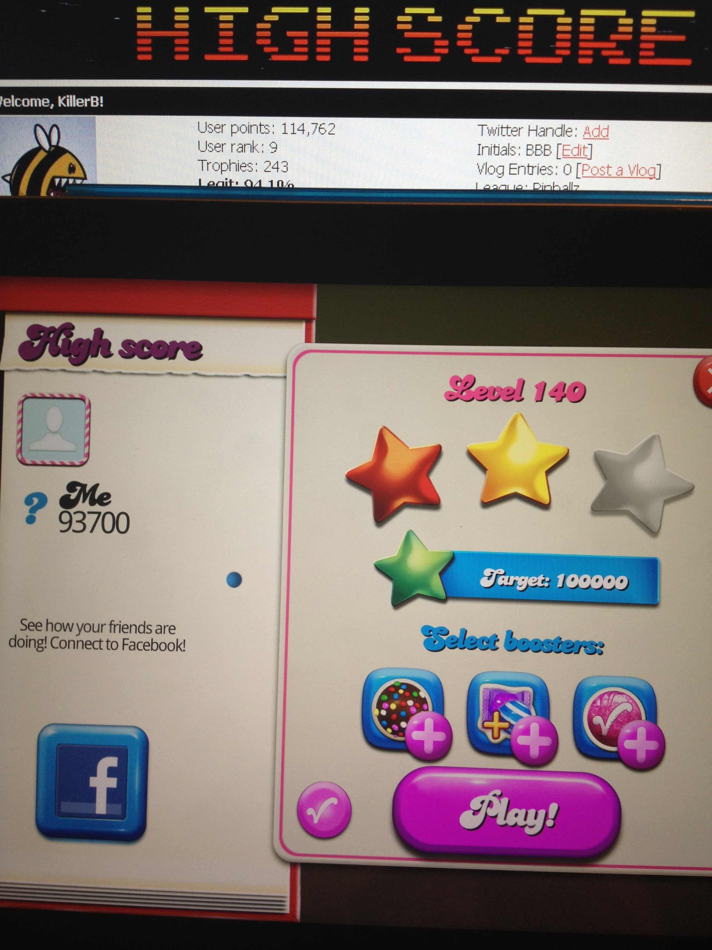 KillerB: Candy Crush Saga: Level 140 (iOS) 93,700 points on 2013-12-19 13:38:28