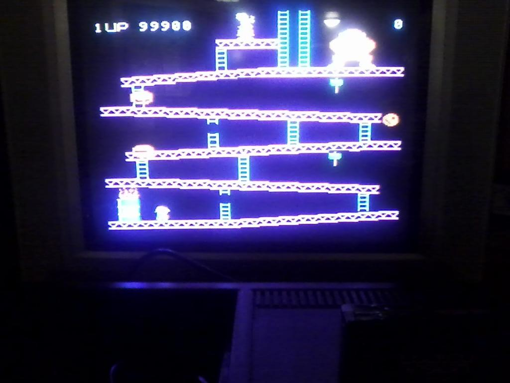 Donkey Kong 99,900 points