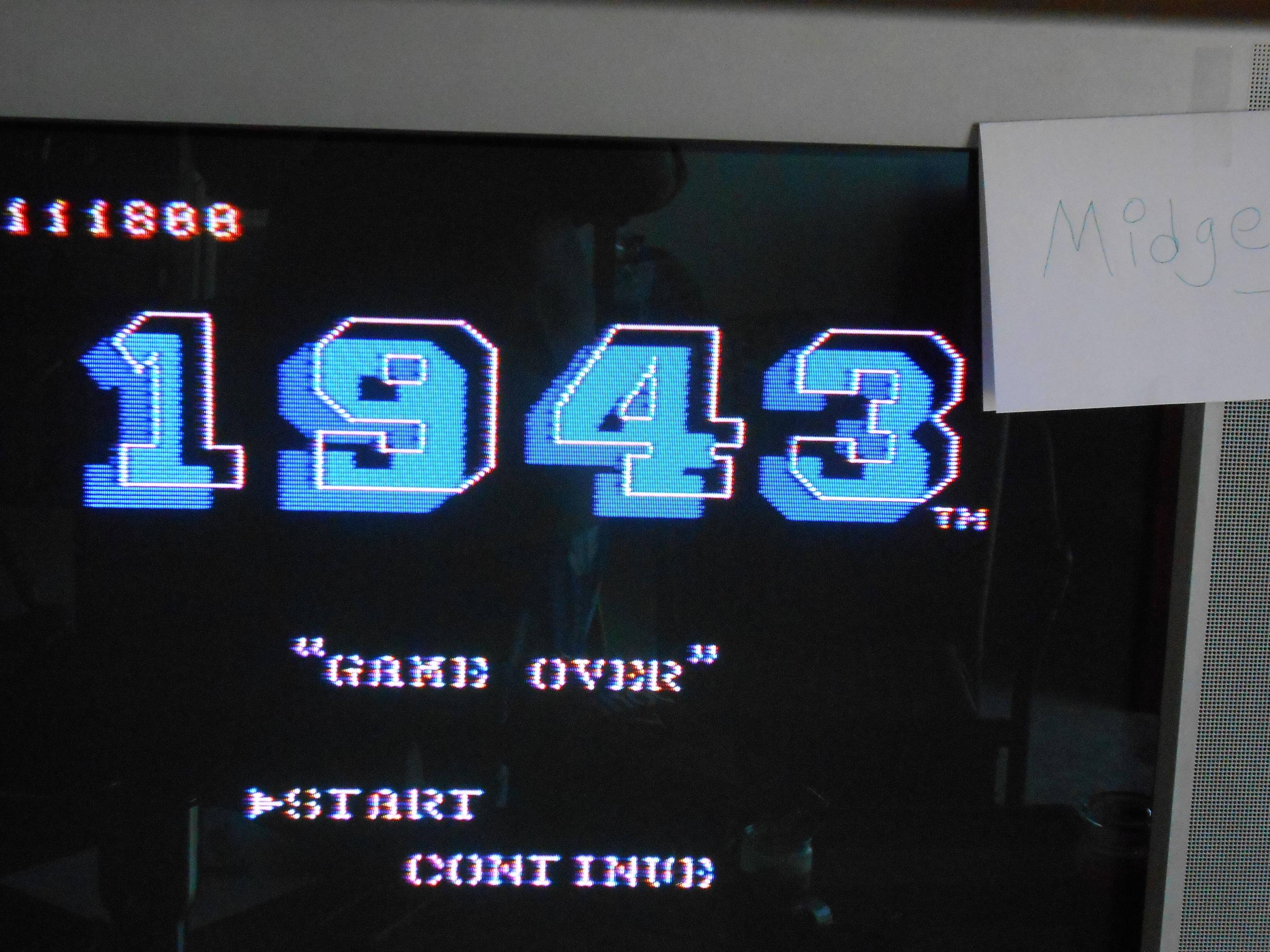 midgey: 1943 (NES/Famicom) 111,800 points on 2014-01-03 13:10:17