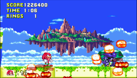 Sonic and Knuckles 1,226,400 points