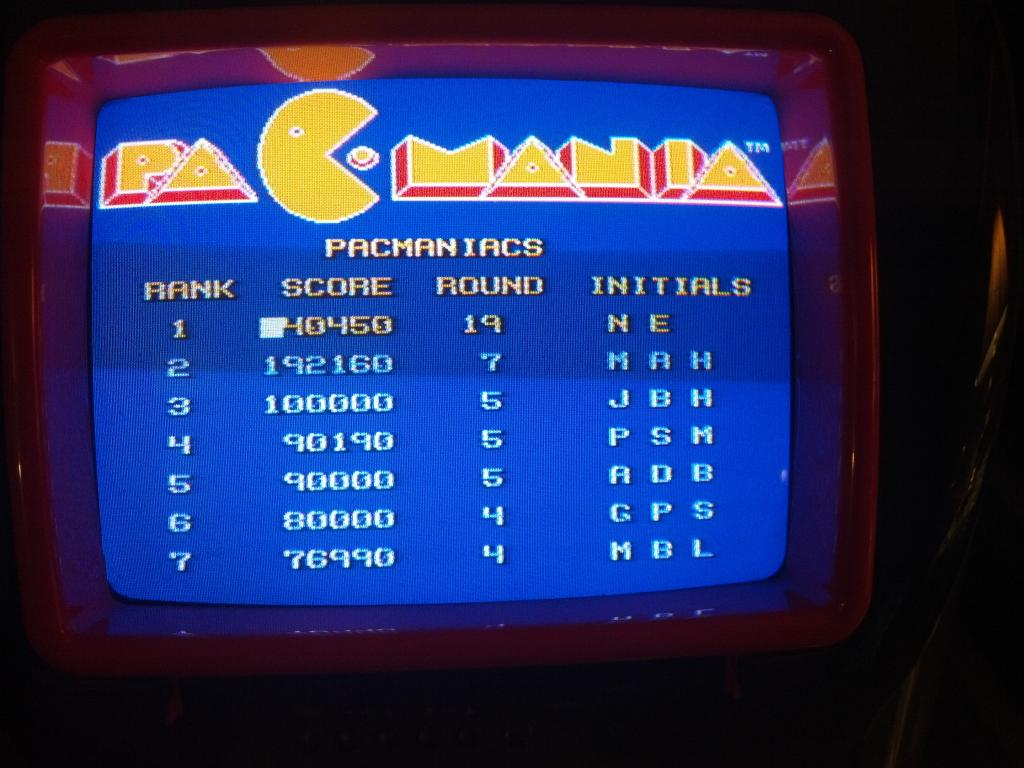 Pacmania 1,140,450 points