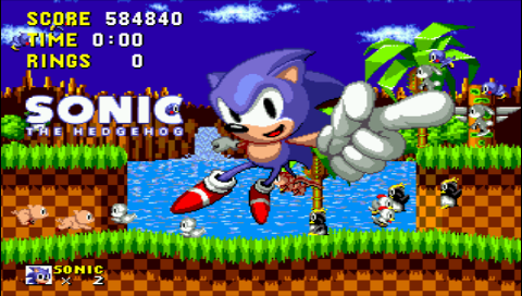 Sonic the Hedgehog 584,840 points