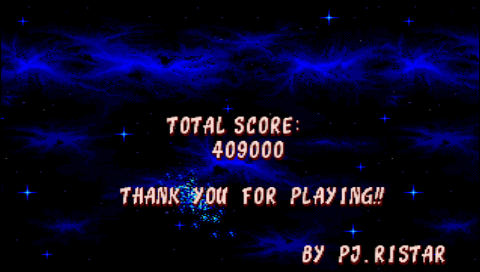 Ristar 409,000 points