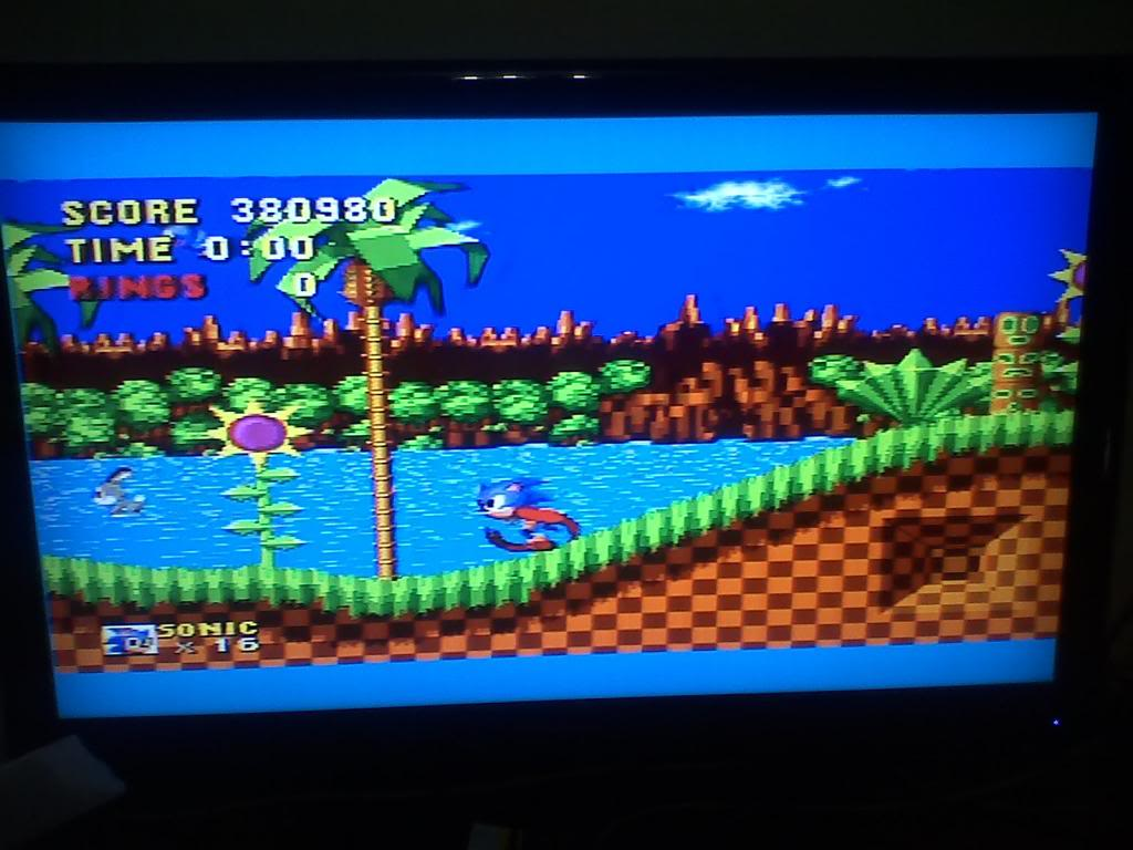 Daniel174: Sonic the Hedgehog (Sega Genesis / MegaDrive) 380,980 points on 2014-01-12 18:17:59