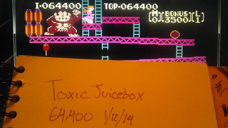 ToxicJuicebox: Donkey Kong (NES/Famicom Emulated) 64,400 points on 2014-01-13 01:17:19