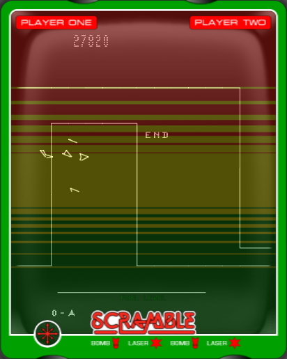 arenafoot: Scramble (Vectrex Emulated) 27,820 points on 2014-01-13 17:48:27