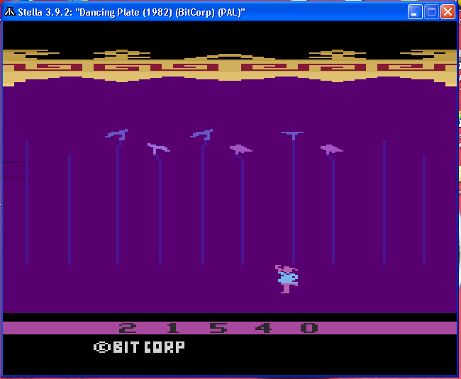 arenafoot: Dancing Plate: Game 1 (Atari 2600 Emulated) 21,540 points on 2014-01-14 20:08:41
