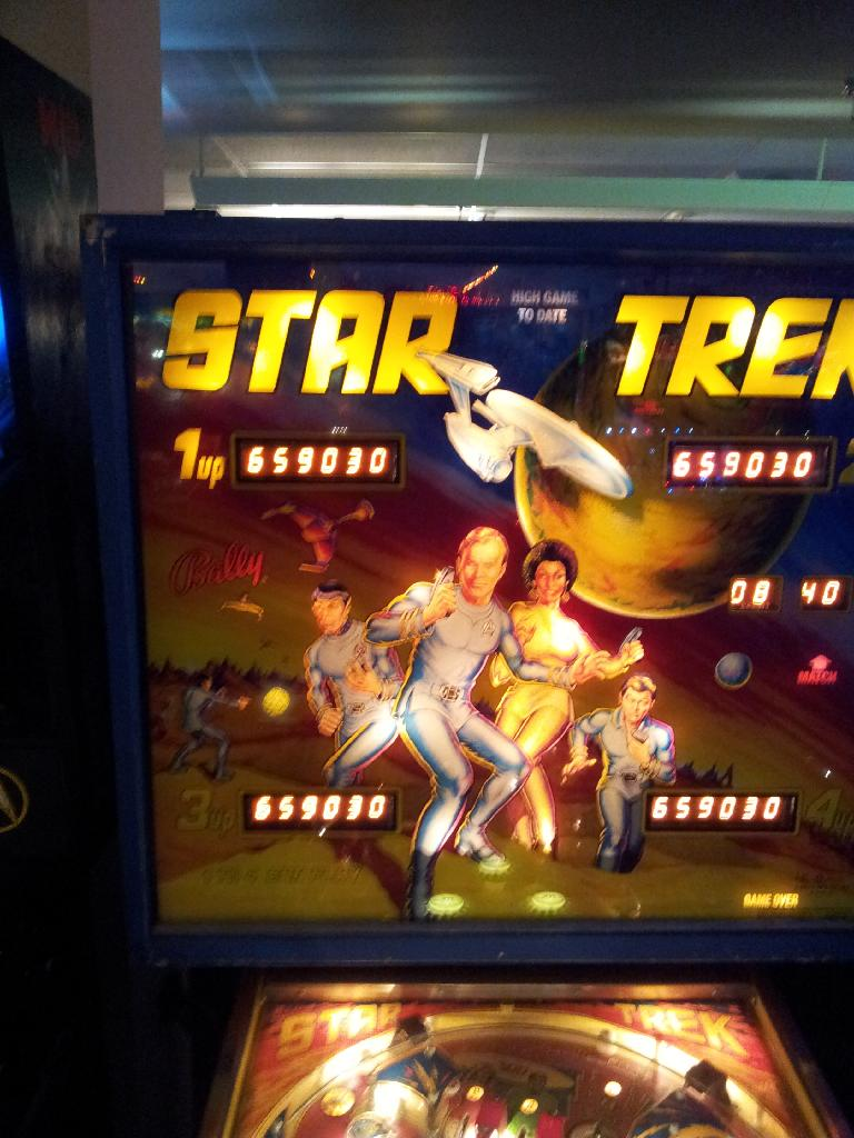 Star Trek (1979 pinball) 659,030 points
