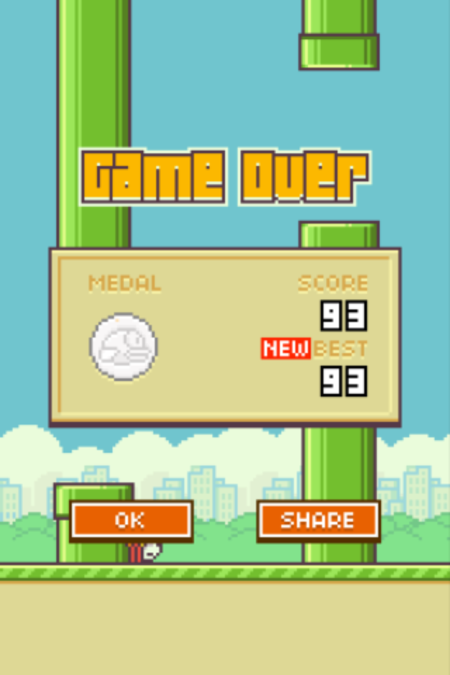 Flappy Bird 93 points