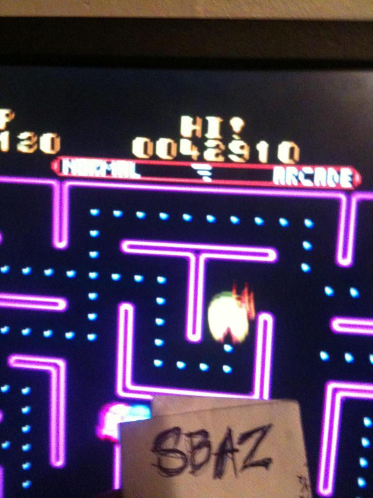 Ms. Pac-Man 42,910 points