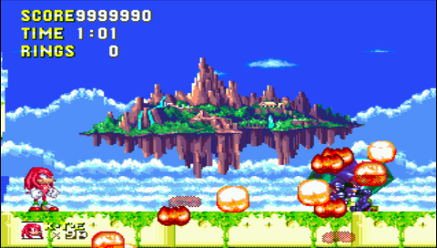 Sonic 3 and Knuckles 9,999,990 points