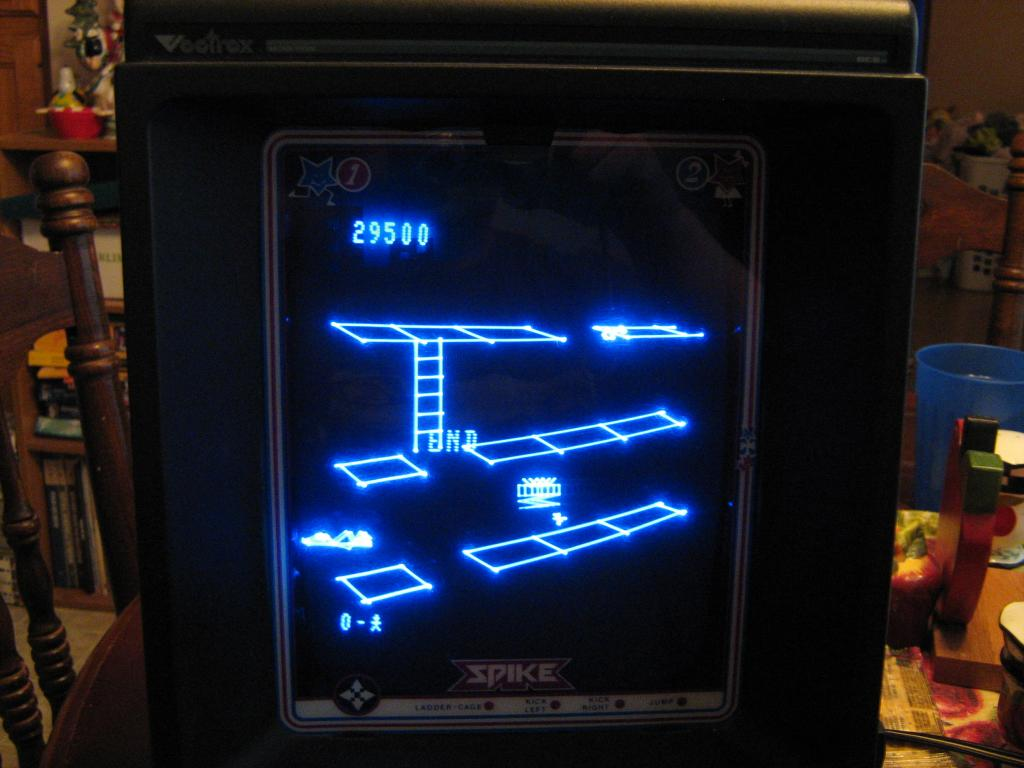 arenafoot: Spike (Vectrex) 29,500 points on 2014-01-21 20:46:37