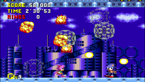 Sonic the Hedgehog CD 581,000 points