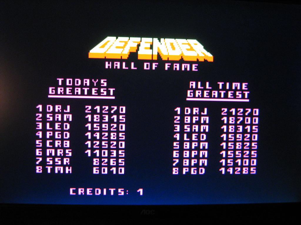 arenafoot: Williams Arcade Classics: Defender (PC) 18,700 points on 2014-01-22 21:30:41