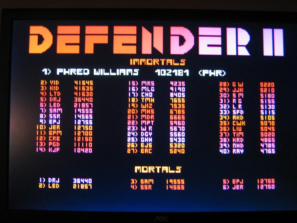 arenafoot: Williams Arcade Classics: Defender II (PC) 12,700 points on 2014-01-22 21:32:04