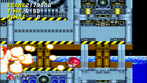 Knuckles in Sonic 2 2,179,800 points