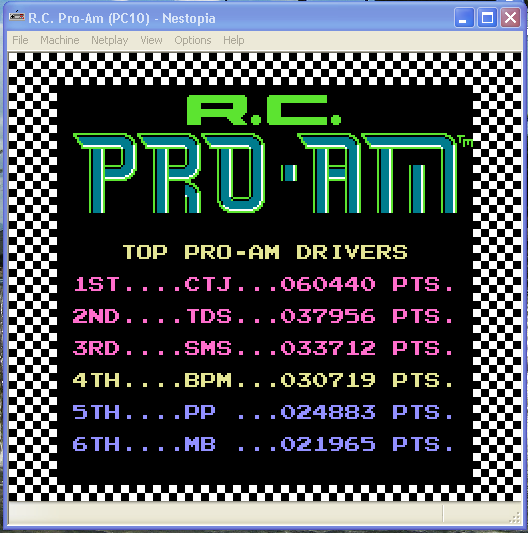 R.C. Pro-Am 30,719 points