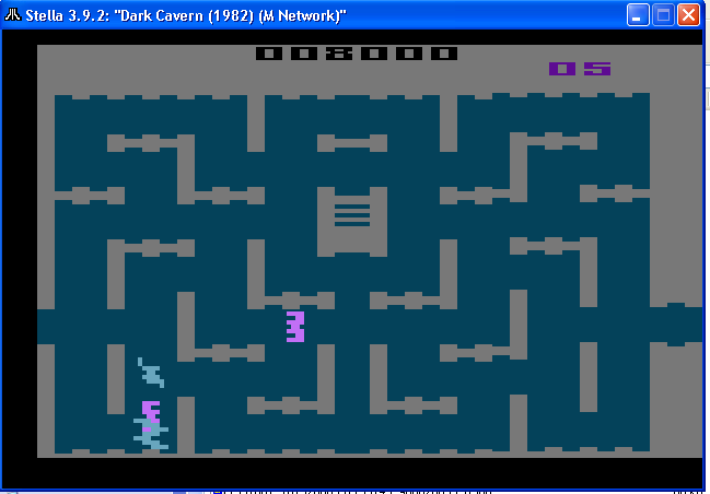 arenafoot: Dark Cavern (Atari 2600 Emulated) 8,000 points on 2014-01-24 18:15:06