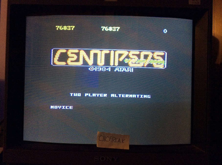 Centipede: Novice 76,837 points