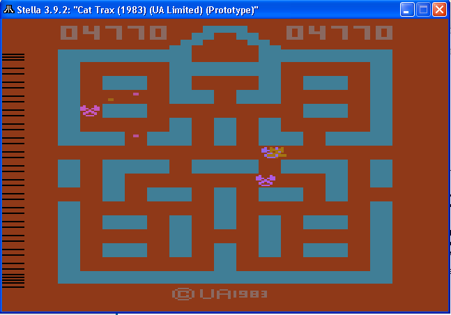 arenafoot: Cat Trax (Atari 2600 Emulated Novice/B Mode) 4,770 points on 2014-01-30 01:12:03