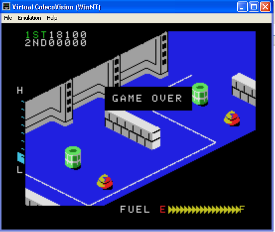 arenafoot: Zaxxon (Colecovision Emulated) 18,100 points on 2014-01-30 01:18:18