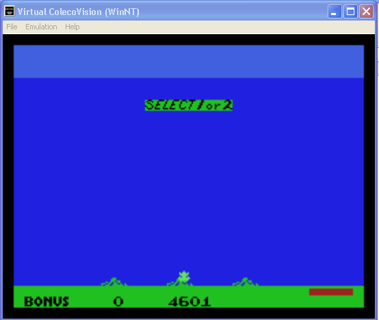 arenafoot: Frogger II: Threedeep (Colecovision Emulated) 4,601 points on 2014-01-30 01:19:33