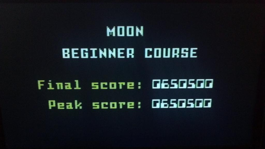 Space Patrol: Moon Beginner 650,500 points