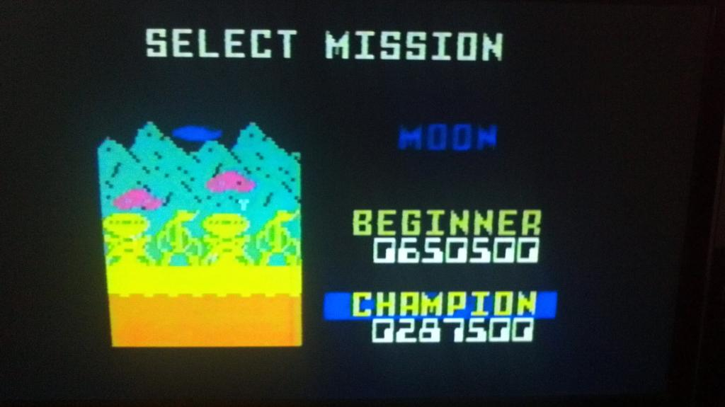 Space Patrol: Moon Champion 287,500 points