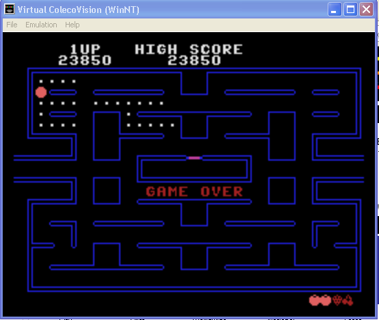 arenafoot: Pac-Man (Colecovision Emulated) 23,850 points on 2014-01-31 19:41:03