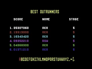 Outrun: Course A 35,307,060 points