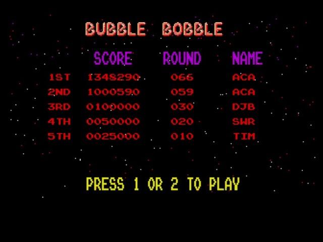 Bubble Bobble 1,348,290 points