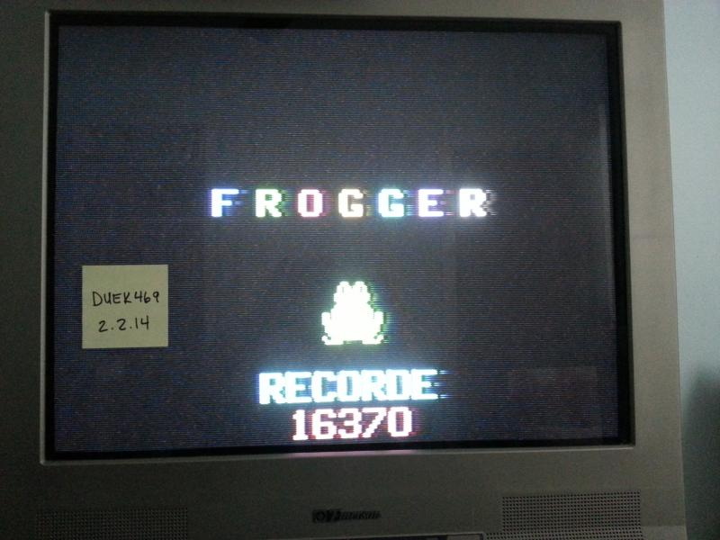 duek469: Frogger (Odyssey 2 / Videopac) 16,370 points on 2014-02-02 17:38:14