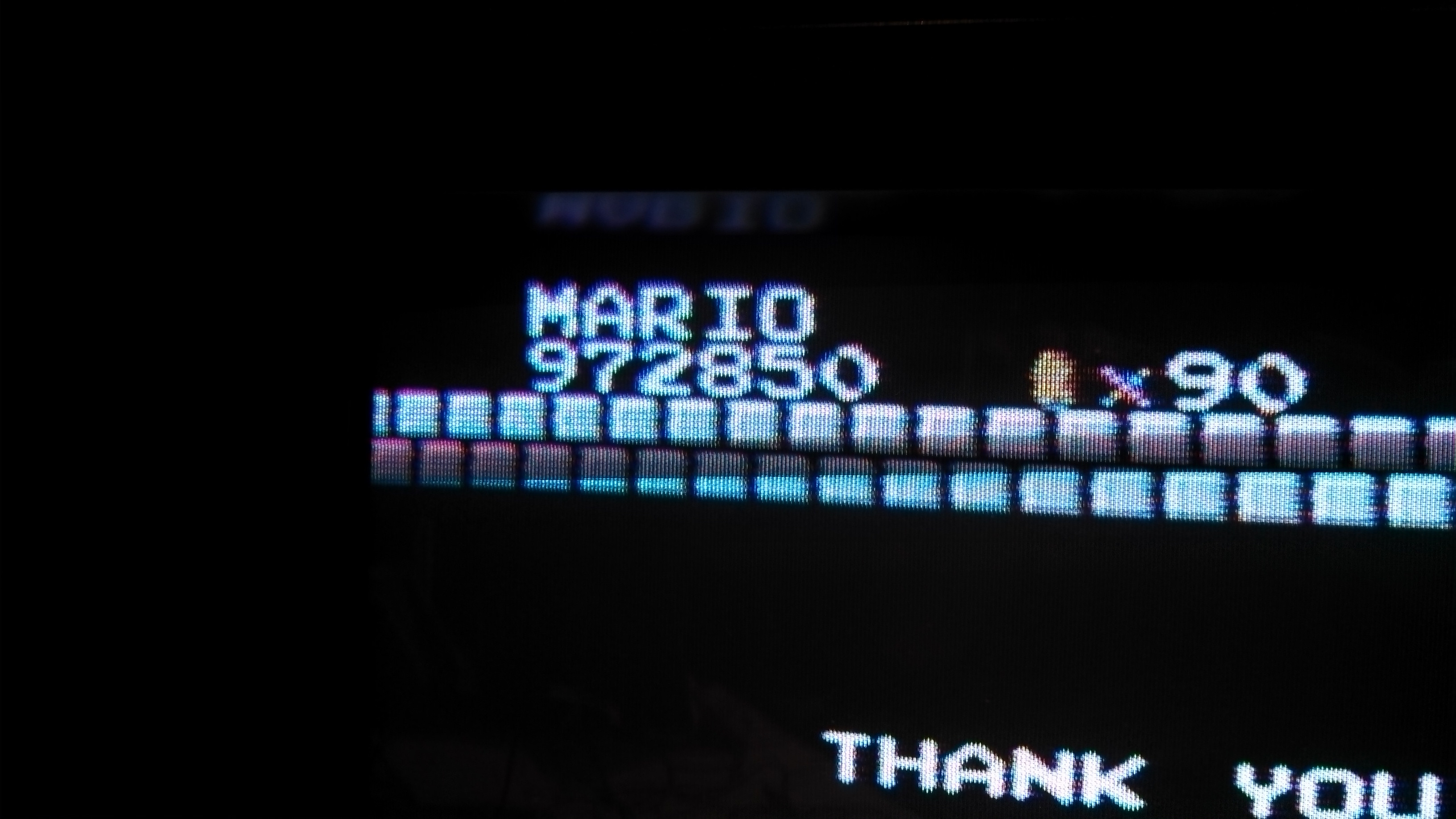 Super Mario Bros. 972,850 points