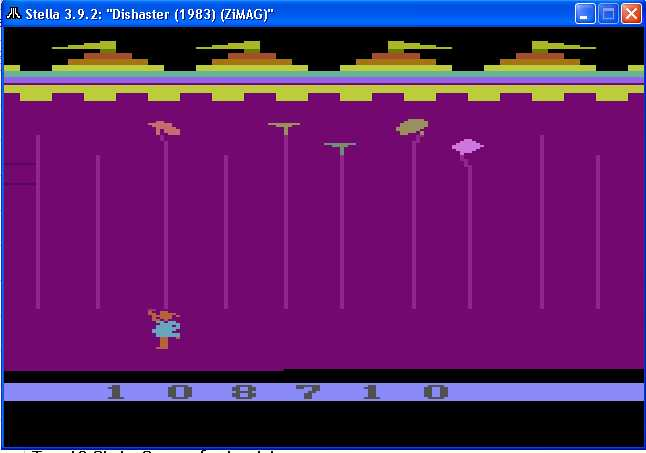 arenafoot: Dishaster: Game 1 (Atari 2600 Emulated) 108,710 points on 2014-02-03 19:56:37