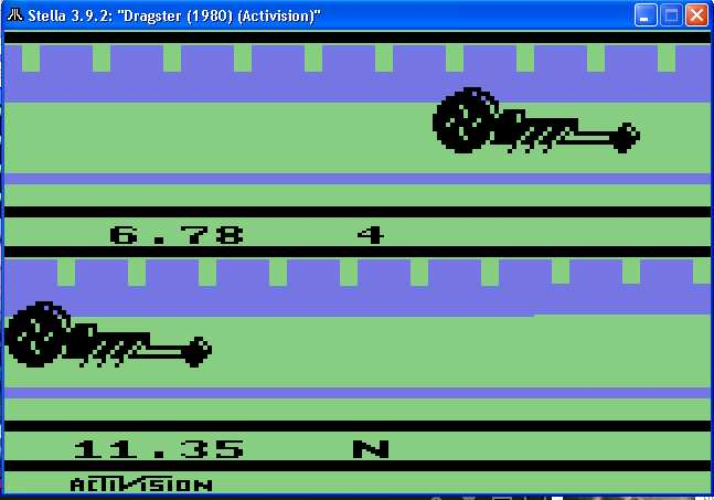 arenafoot: Dragster (Atari 2600 Emulated Novice/B Mode) 0:00:06.78 points on 2014-02-03 20:36:10