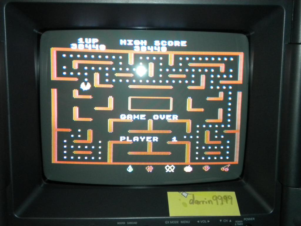 Ms. Pac-Man 38,440 points
