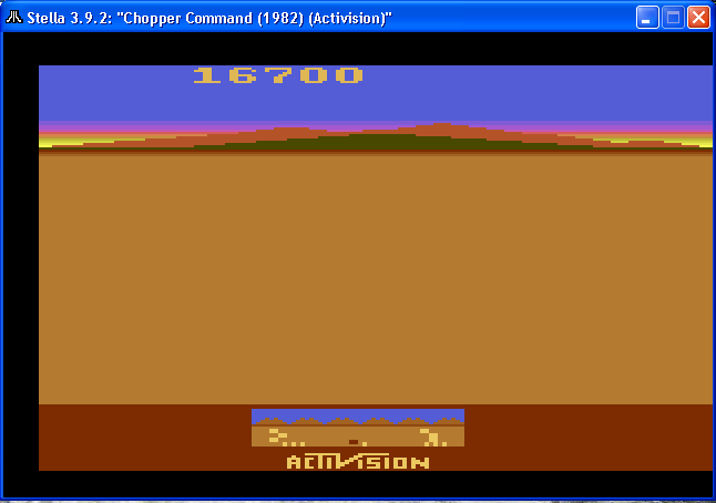 arenafoot: Chopper Command (Atari 2600 Emulated Novice/B Mode) 16,700 points on 2014-02-06 20:30:07