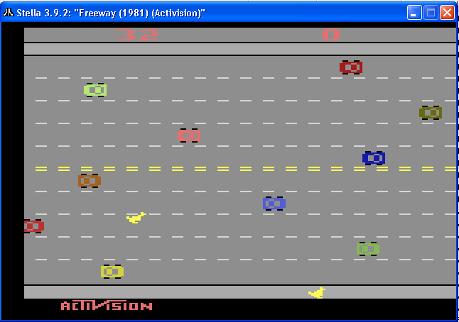 arenafoot: Freeway: Game 1 (Atari 2600 Emulated Novice/B Mode) 32 points on 2014-02-06 20:52:09