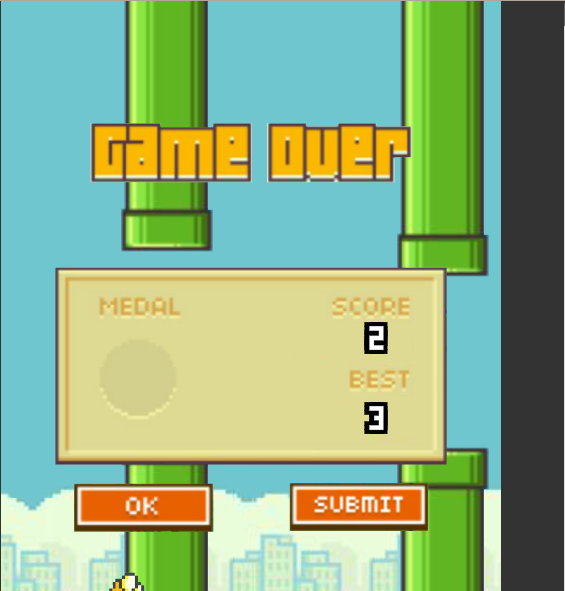 arenafoot: Flappy Bird (Web) 3 points on 2014-02-06 22:05:25
