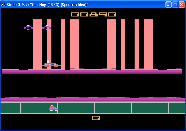 arenafoot: Gas Hog (Atari 2600 Emulated Novice/B Mode) 890 points on 2014-02-06 23:06:37
