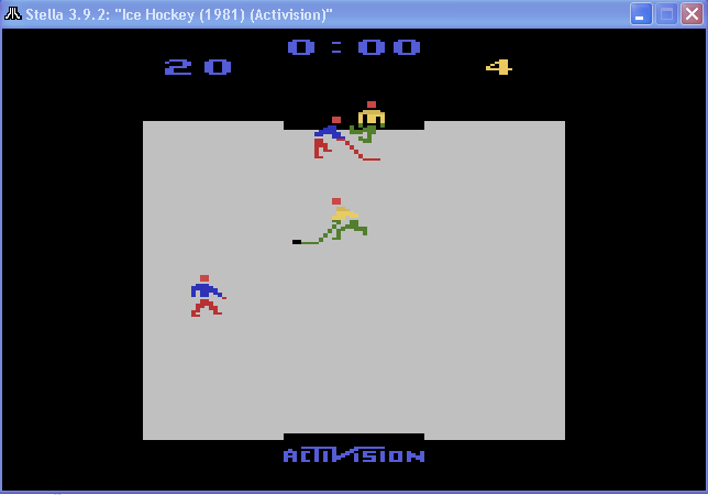 arenafoot: Ice Hockey [Point Difference] (Atari 2600 Emulated Novice/B Mode) 16 points on 2014-02-08 01:07:42