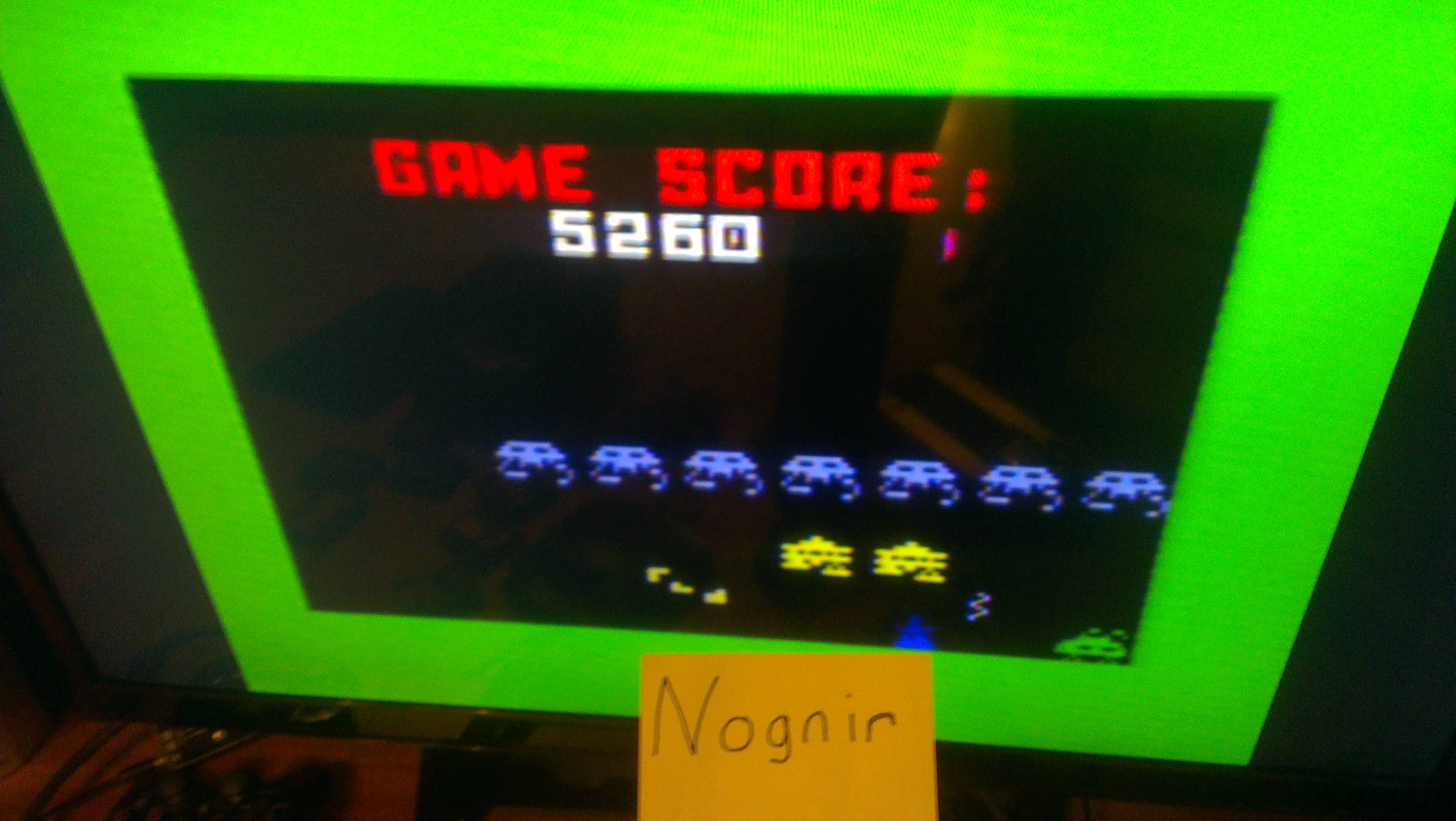 Nognir: Space Armada (Intellivision) 5,260 points on 2014-02-09 17:09:54