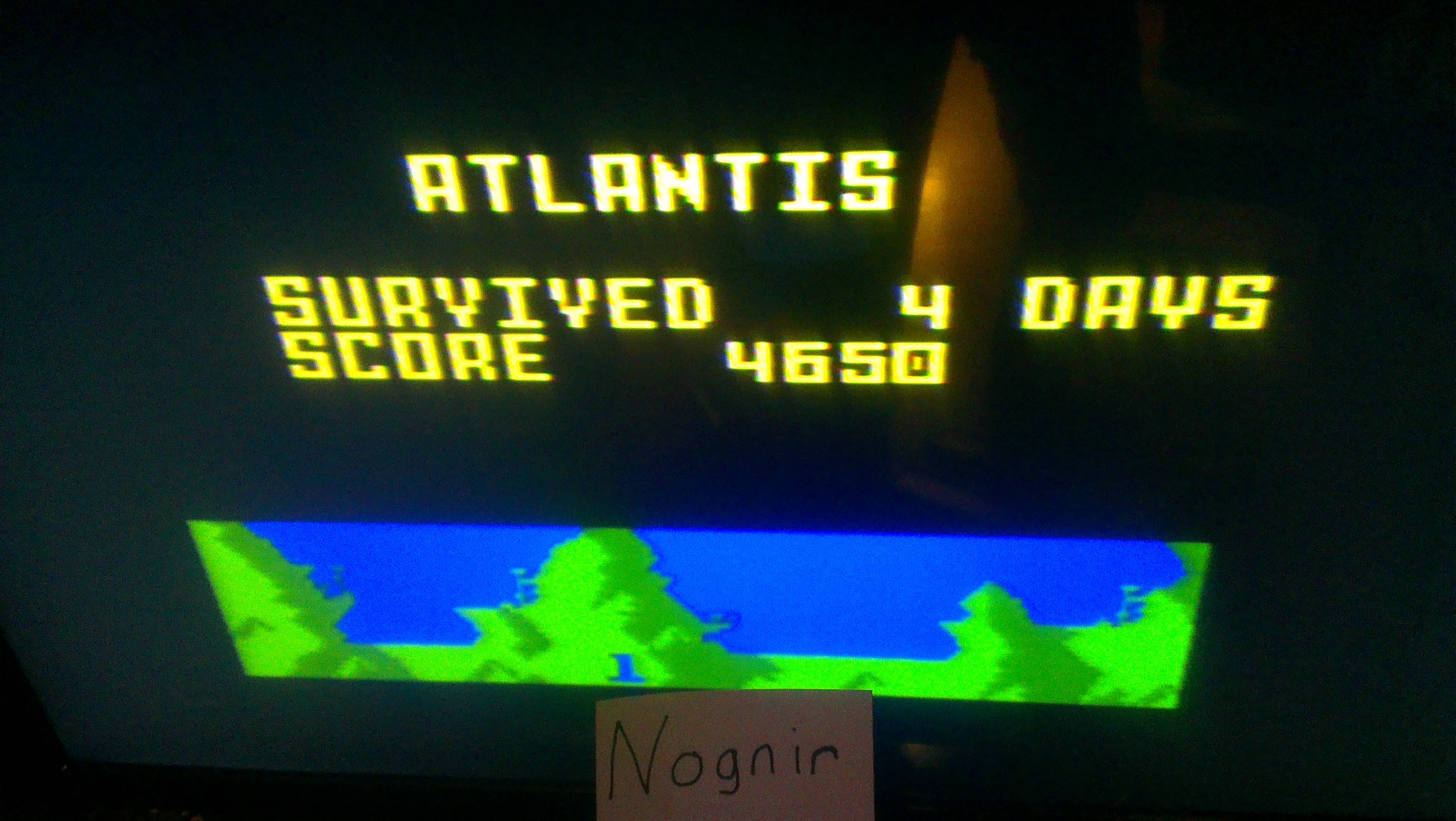 Nognir: Atlantis: Easy (Intellivision) 4,650 points on 2014-02-09 17:13:56