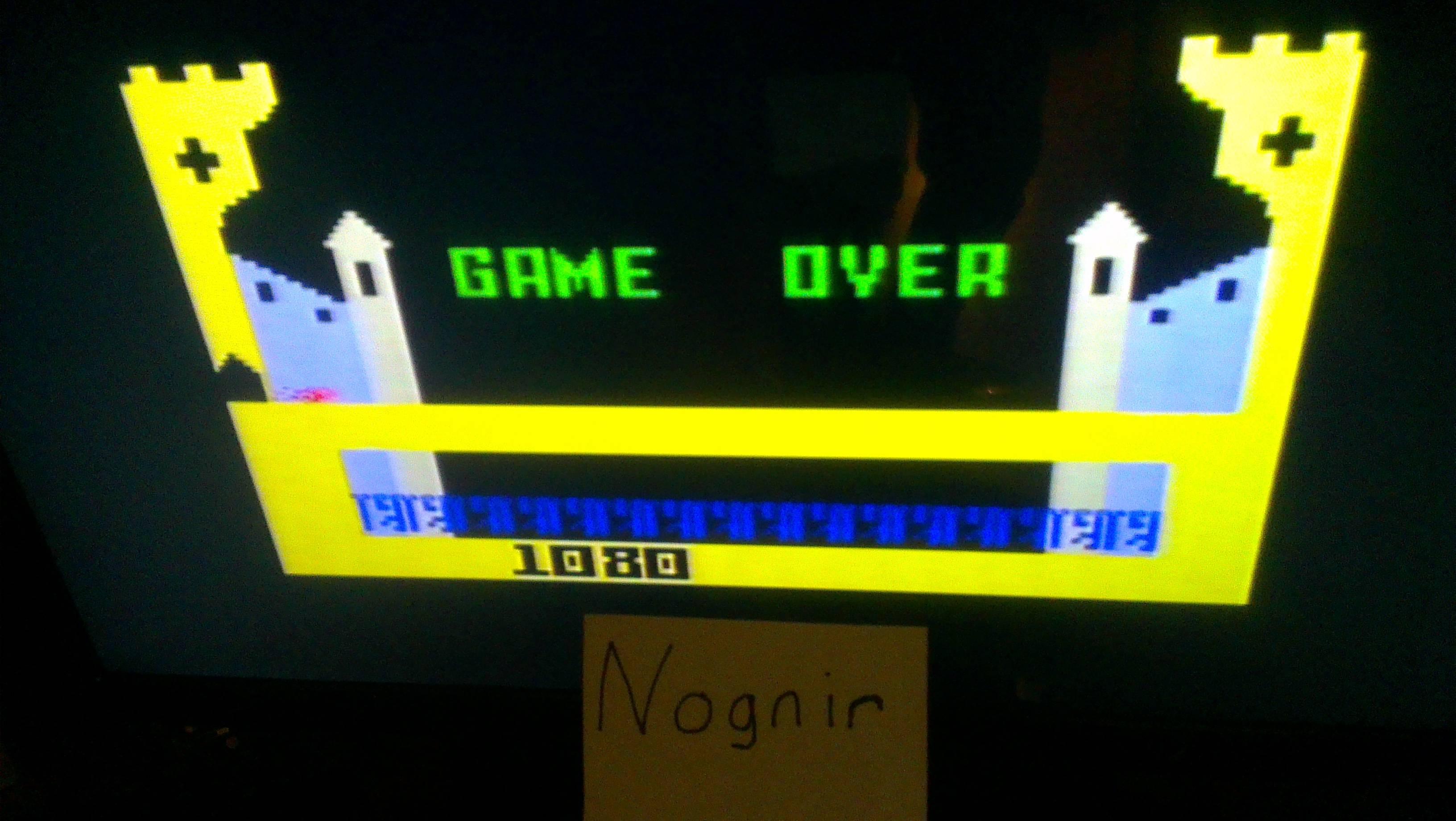 Nognir: Dragonfire (Intellivision) 1,080 points on 2014-02-09 17:15:02