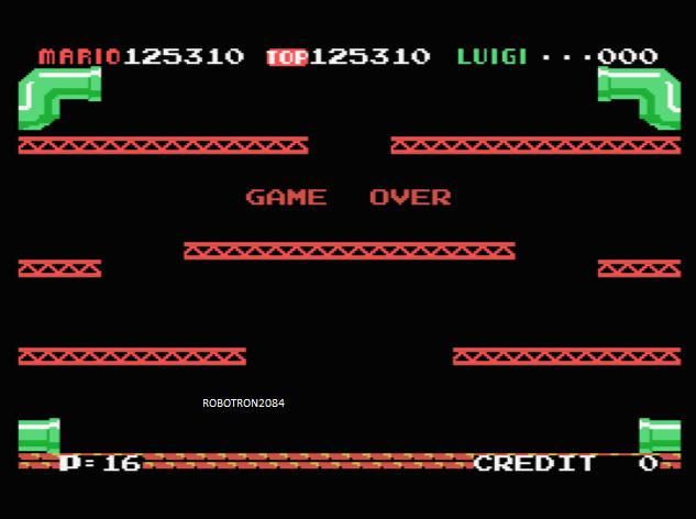 Mario Bros 125,310 points