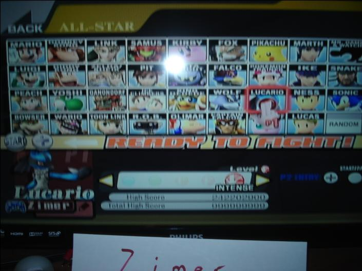 Super Smash Bros. Brawl: All-Star Mode: Lucario 242,202,900 points